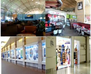 Terminal facilities at SNA Airport