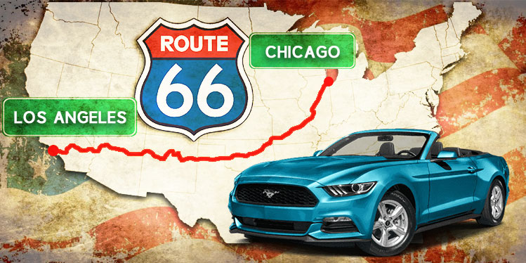 Route 66 Car rental - Car hire Chicago to Los Angeles