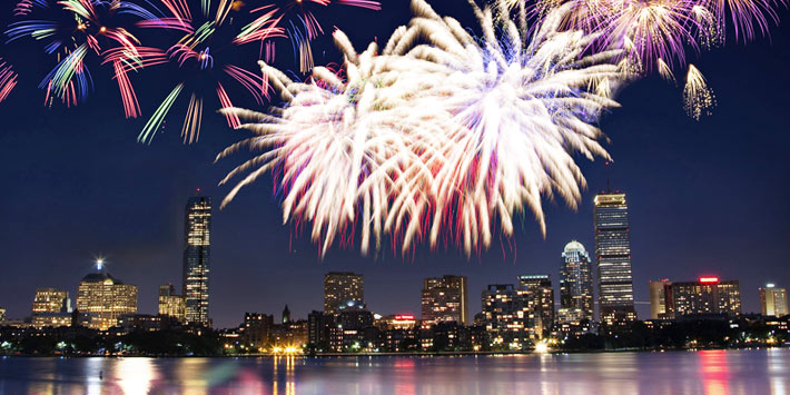 Celebrate the New Year's eve in Boston, Massachusetts