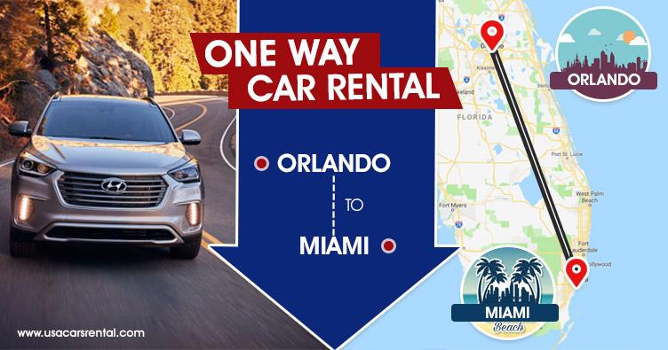 One way car rental Orlando to Miami