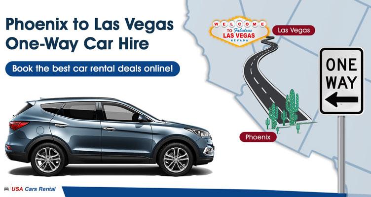 Phoenix to Las Vegas one way car hire